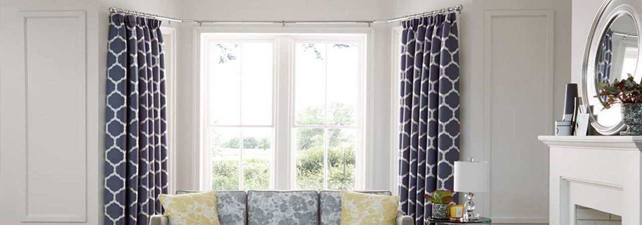 bay window curtain pole range at fendow. Black Bedroom Furniture Sets. Home Design Ideas