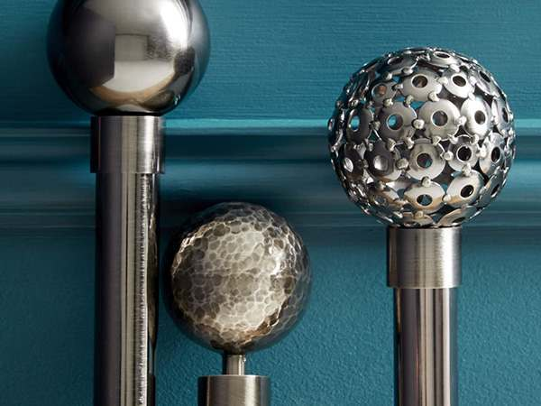 Jones Lunar Bay Window Curtain Poles
