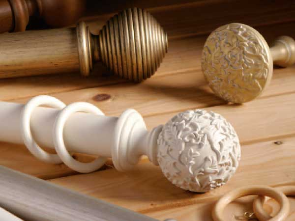 Rolls Modern Country 45mm and 55mm Wooden Curtain Poles
