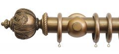 Florentine Rope 50mm Wooden Curtain Pole