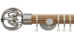 Strand Circle Cage 35mm Wooden Curtain Pole